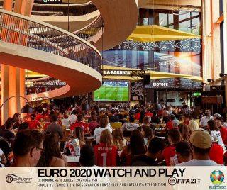Grand événement ce dimanche ! ⚽️🏆Rejoignez-nous dès 15h pour vous affronter à FIFA21 sur notre écran géant de La Fabrica ! Deux joueurs de l'équipe nationale suisse de FIFA21 seront présents pour vous coacher et si vous vous sentez de taille, affrontez-les ! @yannickmengis & @rocaloris Ensuite, dès 21h, assistez à la FINALE de l'EURO ! On vous attend 😁Réservation conseillée pour participer au jeu FIFA21 sur notre grand écran : https://lafabrica.explorit.ch/night-life/reservation-fifa/ #fifa21 #football #yverdonfootball #lafabrica #gaming #esport @elvetsgaming @explorityverdon @rocaloris @smufftho @pidancetnicolas  @yannickmengis